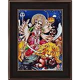 Avercart Goddess Durga / Devi Durga Poster 5x7 Inch With Photo Frame (13x18 Cm Framed)