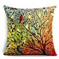 Oil Painting Hundreds of Birds Cotton Linen Throw Pillow Case Cushion Cover Home Sofa Decorative 18 X 18 Inch?3?