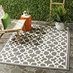 Safavieh Courtyard Collection CY6071-246 Grey and Beige Indoor/ Outdoor Area Rug (53