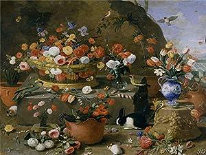 Amazon.com: Oil Painting 'Kessel The Elder Jan Van Bodegon De Flores