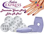 DivineXt Salon Express Nail Polish Art Decoration Stamping Design Kit Decals Paint Stamp