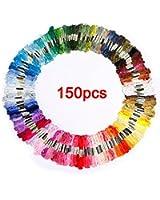 SODIAL(R) 150 echevettes de fil multicolore pour point de croix broderie