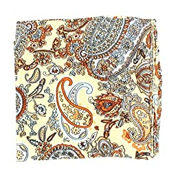 M & F Western Men\'s Paisley Silk Wild Rag Tan One Size