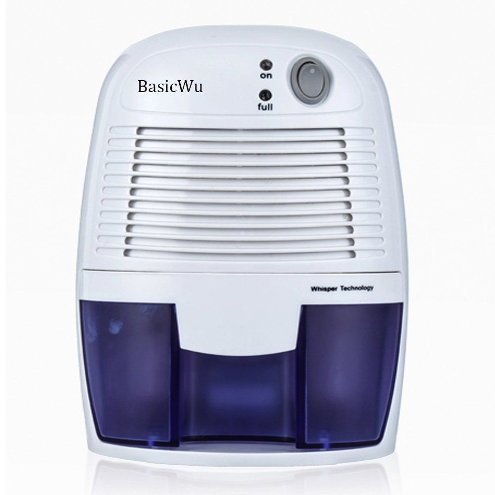 BasicWu Powerful Mini Dehumidifier, Electric Compact Home Dehumidifier Perfect for Small Room,like Bathroom,Kitchen,Basement,Attic and Bedroom