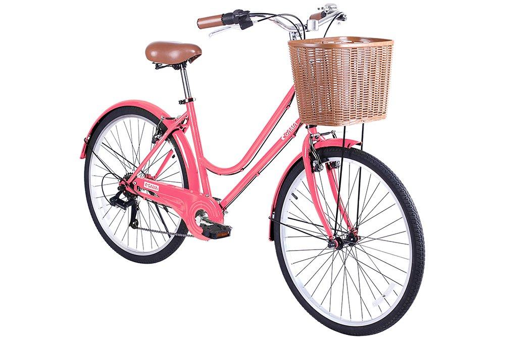 Gama Bikes Women's City Basic Step-Thru 6 Speed Shimano Hybrid Urban Cruiser Commuter Road Bicycle, 26-inch wheels 1