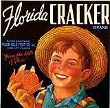 Dade City, Florida Cracker Orange Citrus Fruit Crate Box Label Art Print