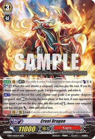 Cardfight!! Vanguard Tcg - Cruel Dragon (Eb09/002En) - Extra Booster Pack 9: Divine Dragon Progression front-1057728