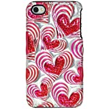 Amzer 3D Metallic Snap On Case Cover for iPhone 4 and iPhone 4S - Retail Packaging - Heart Beats