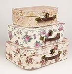 Lot de 3 valises de rangement Vintage...
