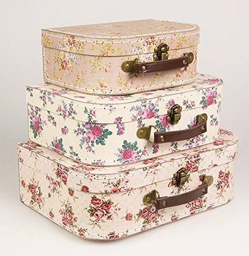 3-er-Set-Vintage-Rose-Koffer-Lagerksten