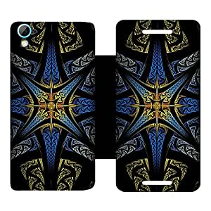 Skintice Designer Flip Cover with Vinyl wrap-around for HTC Desire 826 , Design - Star Pattern
