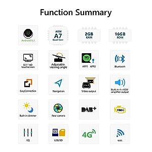 2019 Double Din Car Stereo, Android 8 1 Car Radio Stereo Audio Eonon