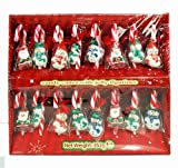 Christmas Peppermint Candy Canes with Jelly Figures (18 per Box)