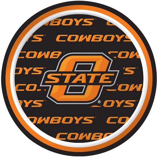 Creative Converting Oklahoma State Cowboys Dessert Paper Plates (8 Count)