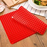 Non-Stick Microwave Silicone Baking Mat Pyramid Cooking Pan Oven Baking Tray