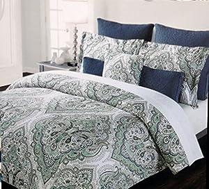 Amazon.com: Tahari Home Full\/Queen Cotton Duvet Cover Set,: Home \u0026 Kitchen