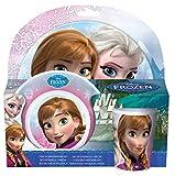 Toy - Disney Frozen 755790 - Melamin Set, 3-teilig, 2 Teller und 1 Becher, 27 x 7 x 28 cm
