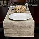 Rope International Eco Home Natural Banana Table Runner(Natural, 13 x 72 inch)