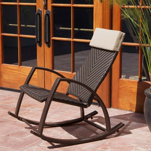 Barcelona Wicker Rocker Chair picture