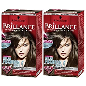 schwarzkopf brillance k hles graphit braun 881 haarfarbe coloration intensiv color creme 2er. Black Bedroom Furniture Sets. Home Design Ideas