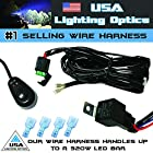 #1 Off Road ATV/UTV Jeep Trucks LED Light Bar Universal Wiring Harness - 40 Amp Relay ON/OFF Switch, great for LED Work Lights, ATV, UTV, Offroad Trucks, 4x4, SUV, Polaris Razor RZR, Yamaha, Ranger