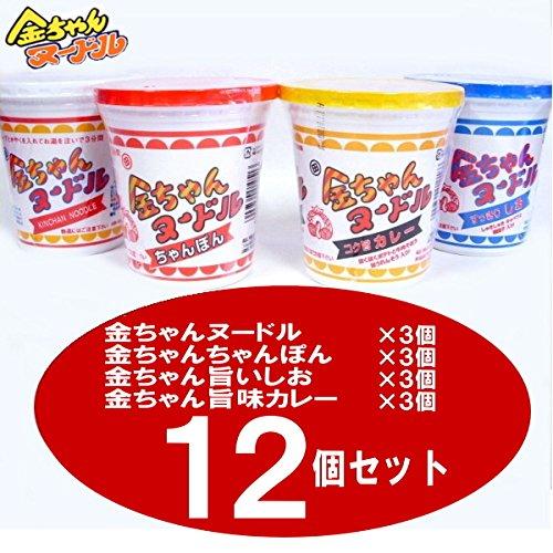 徳島製粉 金ちゃんヌードル4種で1箱セット(ヌードル・ちゃんぽん・すっきり塩・コク旨カレー)