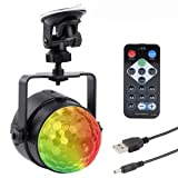 Autai USB Stage Light LED Disco Light Ball Music Rhythm RGB Multi Color Change Strobe DJ Light for Festival Birthday Home Party Bar Club Xmas with Remote Controller (Color: Multicolor)