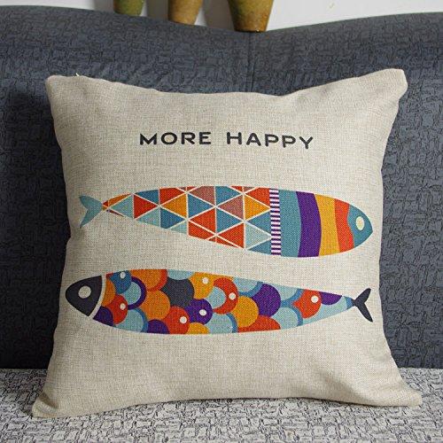 luxbon-funda-de-cojin-almohada-lino-duradero-pez-multicolor-more-happy-decoracion-para-sofa-cama-18x