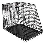 KERBL Cage de Transport pour Chiens 107 X 74 X 85 cm Noir 2 Portes