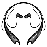 Mpow Jaws Gen5 Bluetooth Headphones V5.0 Wireless Neckband Headphones W/ 18H Playtime, Magnetic Earbuds W/Call Vibrate & CVC 6.0 Noise Cancelling Mic, Wireless Neckband Headsets,Black (Color: Black)
