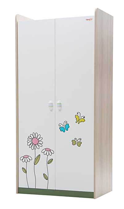 New Joy Wingy 2-Door Children Wardrobe, 200 x 94 x 61 cm, White