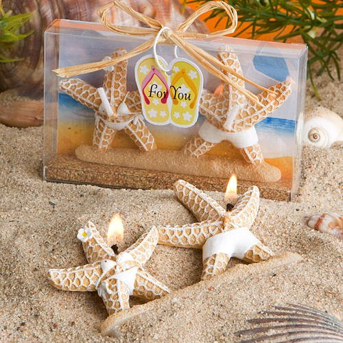 Beach Theme Wedding Favor Candles: Starfish Candles,