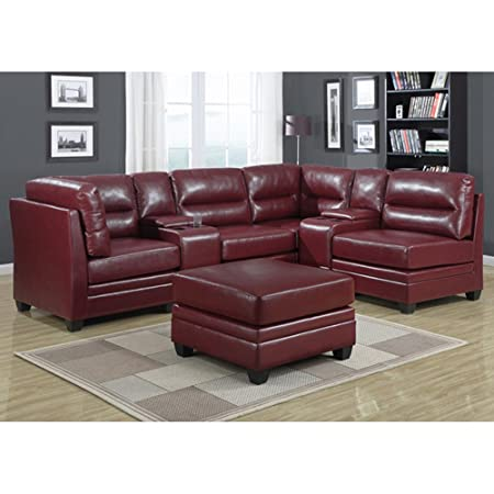 SOFA -BONDED LEATHER CONSOLE Red