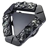Lixada 9x10W 9LED 16/48 Channel Full Color DMX512 Sound Control Auto Rotating Mini Triangle Spider Lamp Beam Stage Light for Disco KTV Club Party (Color: TYPE 2)