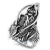 Grim Reaper Biker Evil Dark Ring New 316L Stainless Steel Devil Band Size 14