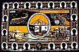 カンガ アフリカの布 限定生産 タンザニア記念カンガ 『タンガニーカ・アフリカ民族同盟記念』 (オレンジ×緑)  k-23