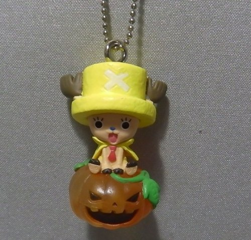 From TV Onepiece ~Helloween Chopper Man 2013~ Figure Keychain ~Pumpkin Lantern Chopper~Size 42mm~