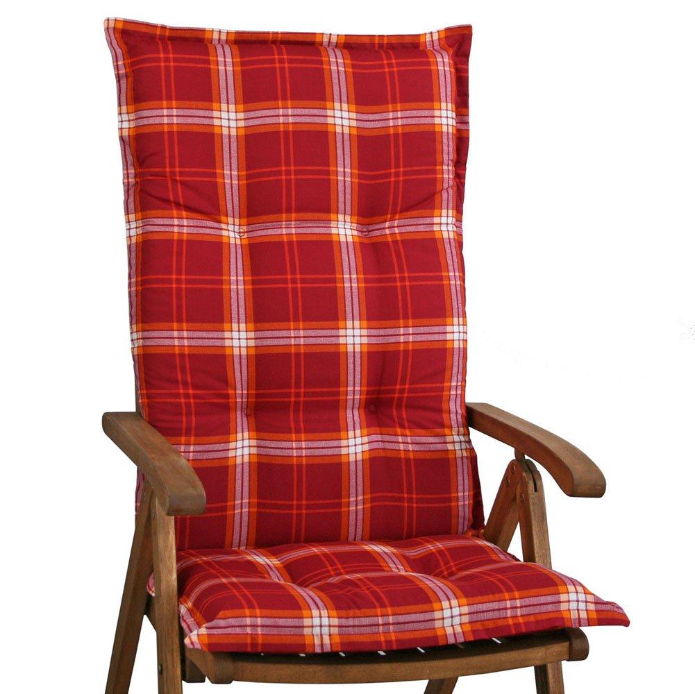 6 Gartenmöbel Auflagen für Hochlehner Sun Garden Prato 10508-310 rot kariert online bestellen