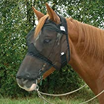Cashel Quiet Ride Fly Mask for Standard Horse with Long Nose Cover