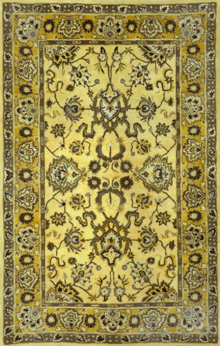 Liora Manne Petra Agra Yellow Traditional 9' x 12' Rug- 9054-09