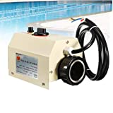 TOPCHANCES 220-240 Volt Electric Swimming Pool Thermostat 3KW (Fits Small Swimming Pool)