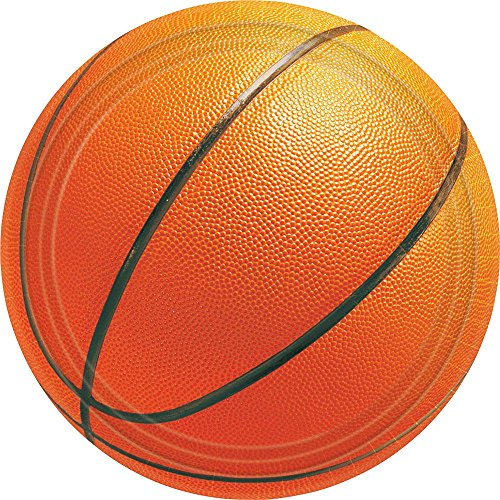 Basketball Large Paper Plates (8ct)