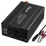 Soyond Car Power Inverter Car Inverter 300W DC 12V to 110V AC Charging Port Converter Car Charger Adapter 4.2A Dual USB Ports (Black) (Color: Black)