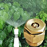 Sellify 1Pcs 360 Degrss Connector Thread Water Sprinkler Irrigation Spray Nozzle Watering Head Garden Brass Supplies