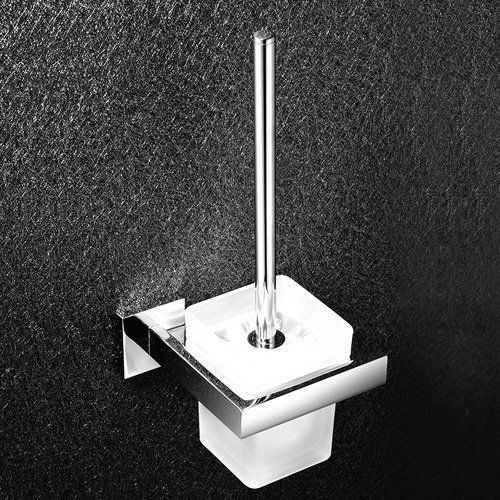 Ouku® Wall Mount Bathroom Bath Shower Brush Holder Contemporary Mirror Polished Finish Stainless Steel Material Toilet Brush Holde Lavatory Accessories Tools And Improvement Racks And Stands front-1065685
