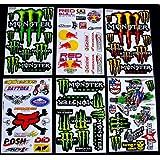 "sheets "" Motocross stickers "" b/m boys sticker bomb Rockstar bmx"