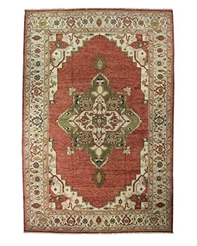 Bashian Rugs Indo Hand Knotted One-of-a-Kind Herez Rug, Rust, 12' x 17' 9