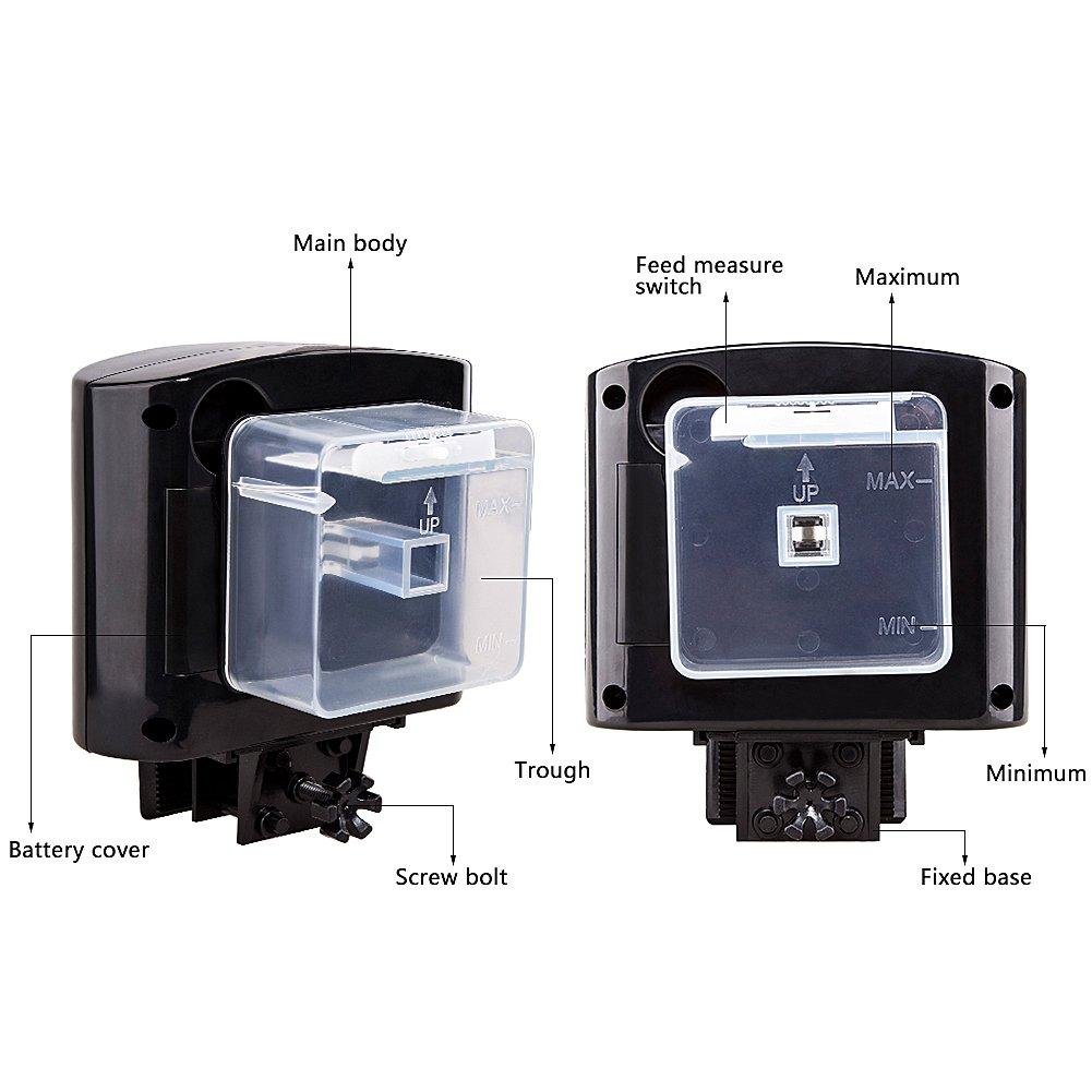 Daily 6 times automatic fish feeder aquarium tank feeders for Automatic fish tank feeder