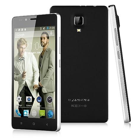 "LANDVO L500 3G Smartphone 5,0"" IPS HD Ecran Android 4.4 Octa Core MTK6592 1Go RAM 8Go ROM Double SIM Double Caméra 8MP&2MP support WIFI GPS Bluetooth Air Gesture Compatible avec Orange SFR Bouygues Free Mobistar Proximus- Noir"