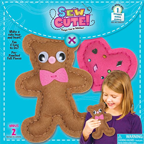 Bear With Heart Begin To Sew Kit-3-3/4 Inch x8 Inch - 1